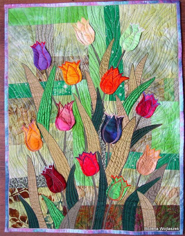 1-bozena_wojtaszek_tulips_art_quilt_2006